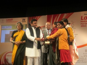 In 2013, Khabar Lahariya was awarded the Laadli Media Award for Gender Sensitive Reporting
