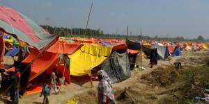 शामली में एक कैम्प का दृश्य