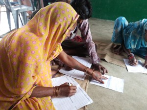 Examinees copying answers at the Sarhat Centre
