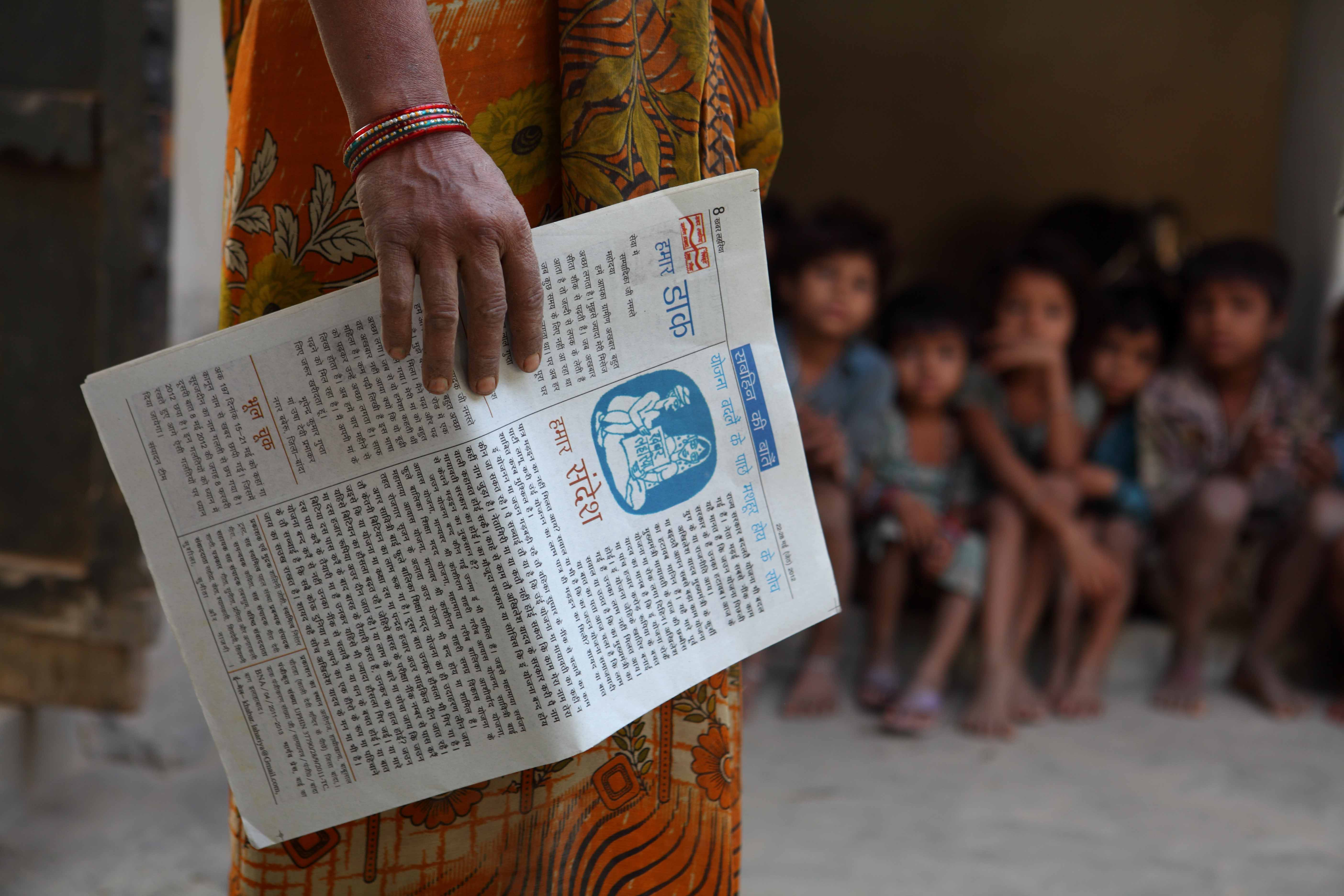 Khabar Lahariya are sold across 600 villages of Uttar Pradesh and Bihar, reaching a readership of 80,000